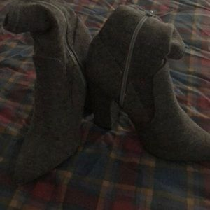 Shoe Dazzle Suede High Heeled Boots